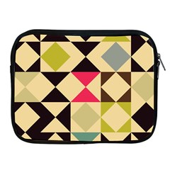 Rhombus And Triangles Pattern Apple Ipad 2/3/4 Zipper Case by LalyLauraFLM