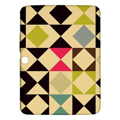 Rhombus And Triangles Pattern Samsung Galaxy Tab 3 (10 1 ) P5200 Hardshell Case  by LalyLauraFLM