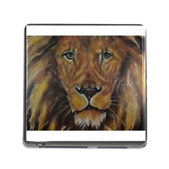 Cecil The African Lion Memory Card Reader (square) by timelessartoncanvas