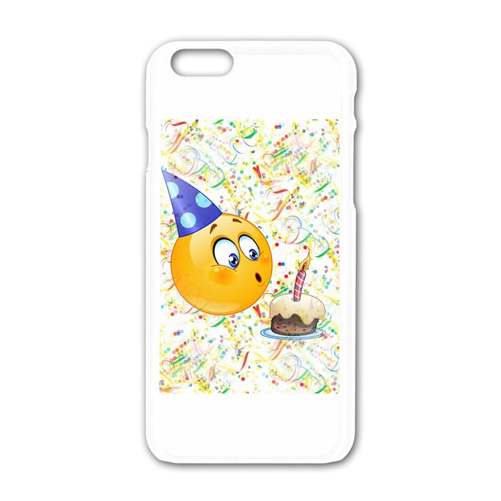 Happy Birthday Emoji Apple IPhone 6 White Enamel Case