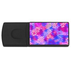 Pink And Purple Marble Waves Usb Flash Drive Rectangular (4 Gb)  by KirstenStar