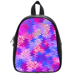 Pink And Purple Marble Waves School Bags (small)  by KirstenStar
