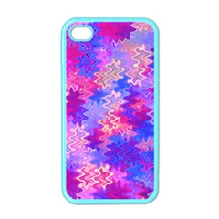 Pink And Purple Marble Waves Apple Iphone 4 Case (color) by KirstenStar