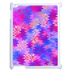 Pink And Purple Marble Waves Apple Ipad 2 Case (white) by KirstenStar