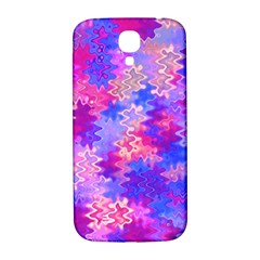 Pink And Purple Marble Waves Samsung Galaxy S4 I9500/i9505  Hardshell Back Case by KirstenStar