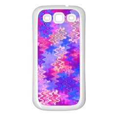 Pink And Purple Marble Waves Samsung Galaxy S3 Back Case (white) by KirstenStar
