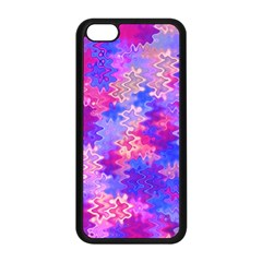 Pink And Purple Marble Waves Apple Iphone 5c Seamless Case (black) by KirstenStar
