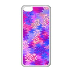 Pink And Purple Marble Waves Apple Iphone 5c Seamless Case (white) by KirstenStar