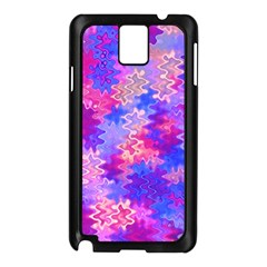 Pink And Purple Marble Waves Samsung Galaxy Note 3 N9005 Case (black) by KirstenStar