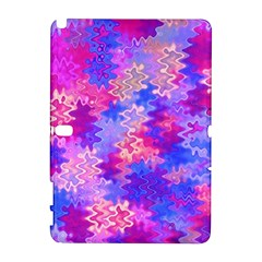 Pink And Purple Marble Waves Samsung Galaxy Note 10 1 (p600) Hardshell Case by KirstenStar