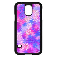 Pink And Purple Marble Waves Samsung Galaxy S5 Case (black) by KirstenStar