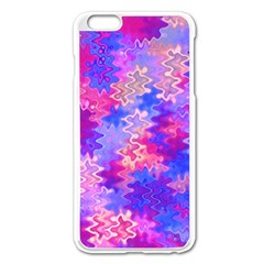 Pink And Purple Marble Waves Apple Iphone 6 Plus Enamel White Case by KirstenStar
