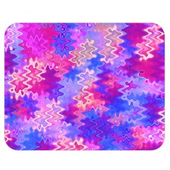 Pink And Purple Marble Waves Double Sided Flano Blanket (medium)  by KirstenStar