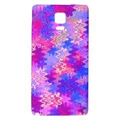 Pink And Purple Marble Waves Galaxy Note 4 Back Case by KirstenStar