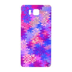 Pink And Purple Marble Waves Samsung Galaxy Alpha Hardshell Back Case by KirstenStar