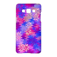 Pink And Purple Marble Waves Samsung Galaxy A5 Hardshell Case  by KirstenStar