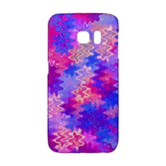 Pink And Purple Marble Waves Galaxy S6 Edge by KirstenStar