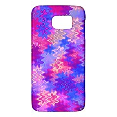 Pink And Purple Marble Waves Galaxy S6 by KirstenStar