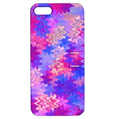 Pink And Purple Marble Waves Apple Iphone 5 Hardshell Case With Stand by KirstenStar