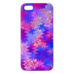 Pink And Purple Marble Waves Apple Iphone 5 Premium Hardshell Case by KirstenStar