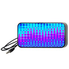 Melting Blues And Pinks Portable Speaker (black)  by KirstenStar