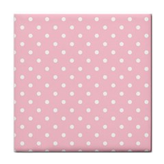 Pink Polka Dots Tile Coasters by LokisStuffnMore