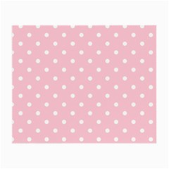 Pink Polka Dots Small Glasses Cloth by LokisStuffnMore