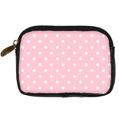 Pink Polka Dots Digital Camera Cases by LokisStuffnMore