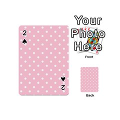 Pink Polka Dots Playing Cards 54 (mini)  by LokisStuffnMore