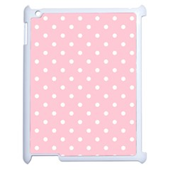 Pink Polka Dots Apple Ipad 2 Case (white) by LokisStuffnMore