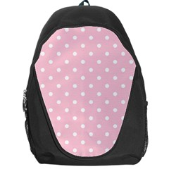 Pink Polka Dots Backpack Bag by LokisStuffnMore