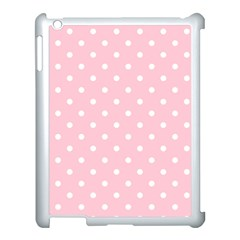 Pink Polka Dots Apple Ipad 3/4 Case (white) by LokisStuffnMore