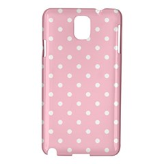 Pink Polka Dots Samsung Galaxy Note 3 N9005 Hardshell Case by LokisStuffnMore