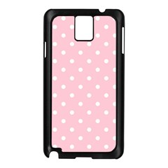 Pink Polka Dots Samsung Galaxy Note 3 N9005 Case (black) by LokisStuffnMore
