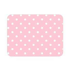 Pink Polka Dots Double Sided Flano Blanket (mini)
