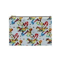 Colorful Paint Strokes Cosmetic Bag (medium) by LalyLauraFLM