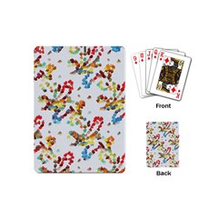 Colorful Paint Strokes Playing Cards (mini) by LalyLauraFLM
