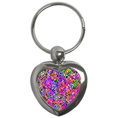 Swirly Twirly Colors Key Chains (heart)  by KirstenStar