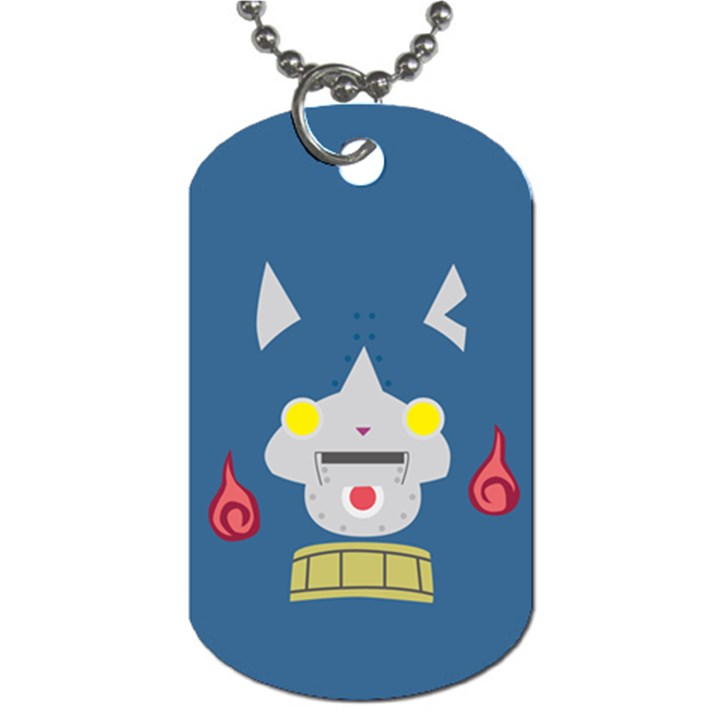 Robonyann Reverse Print Dog Tag (One Side)