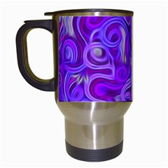 Lavender Swirls Travel Mugs (white) by KirstenStar