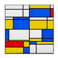 Colorful Rectangles Tile Coaster by LalyLauraFLM