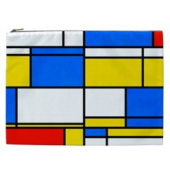 Colorful Rectangles Cosmetic Bag (xxl) by LalyLauraFLM