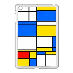 Colorful Rectangles Apple Ipad Mini Case (white) by LalyLauraFLM
