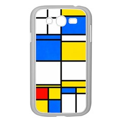 Colorful Rectangles Samsung Galaxy Grand Duos I9082 Case (white) by LalyLauraFLM