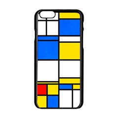 Colorful Rectangles Apple Iphone 6 Black Enamel Case by LalyLauraFLM