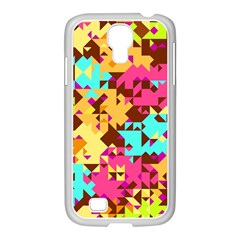 Shapes In Retro Colors Samsung Galaxy S4 I9500/ I9505 Case (white) by LalyLauraFLM