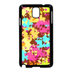 Shapes In Retro Colors Samsung Galaxy Note 3 Neo Hardshell Case by LalyLauraFLM