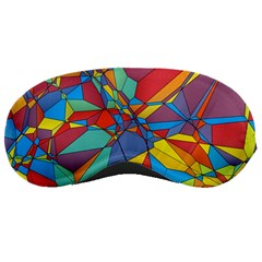 Colorful Miscellaneous Shapes Sleeping Mask by LalyLauraFLM