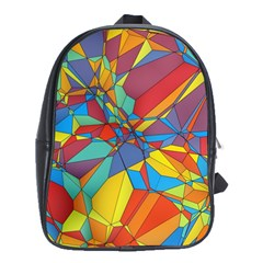 Colorful Miscellaneous Shapes School Bag (large) by LalyLauraFLM