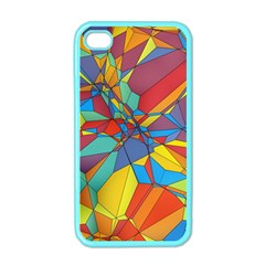 Colorful Miscellaneous Shapes Apple Iphone 4 Case (color) by LalyLauraFLM